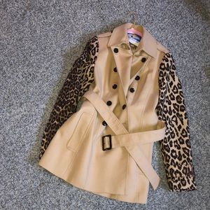Cheetah pea coat